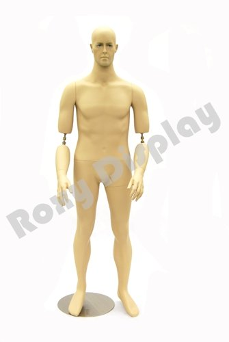 [(MD-BC10) ROXYDISPLAY™ Male mannequin. Flexible Arms, Cooper Arm Joints Good for museum military uniform or 1950s~1960s men's clothes] (50s Wig)