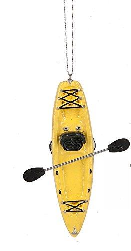 (Midwest Seasons 2018 Kayak Ornament (Yellow) )