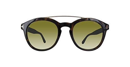 Tom Ford FT0515 52N Shiny Gradient Havana Newman Round Sunglasses Lens ()