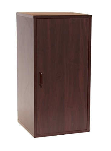 Organize It All 84722W 2-Section Double Storage Cube with Door, Brown