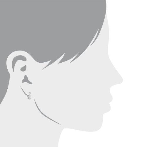 Diamond Line - 110987 - Boucles d'Oreille Femme - Or Blanc 9 Cts 375/1000 6.4 Gr - Diamant