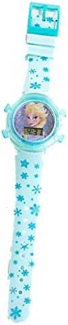 Disney Frozen Elsa Large Flashing Watch - Flashes Red Yellow Green