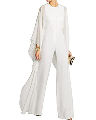 Inorin Women Elegant Long Sleeve Bat Sleeve Solid Slim Long Wide Leg Rompers Jumpsuit Suit