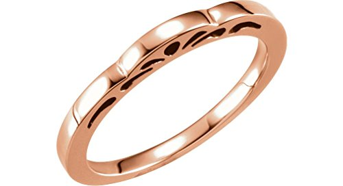 Cut-Out Paisley 3mm Stackable 14k Rose Gold Ring, Size 6 by The Men's Jewelry Store (for HER)