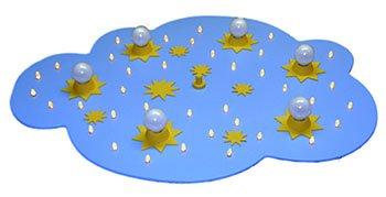 Elobra Kinderleuchte Kinderlampe - LED Sternenwolke Blau 6-flammig - Deckenleuchte - Restposten Lagerräumung