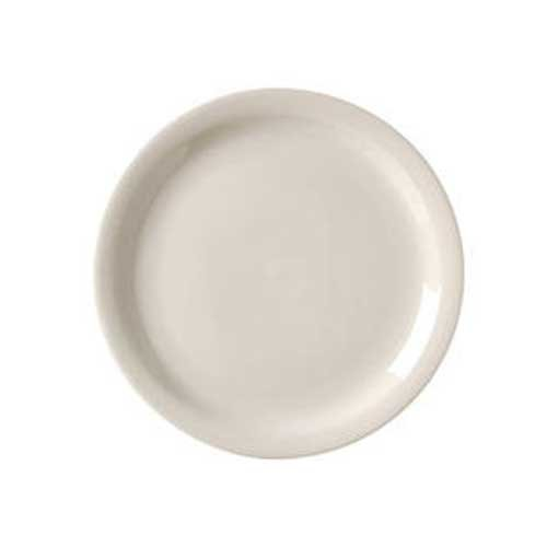 American White Narrow Rim Plate (Vertex China Royal Collection Narrow Rim Undecorated American White Plate, 6 1/2 inch -- 36 per case.)