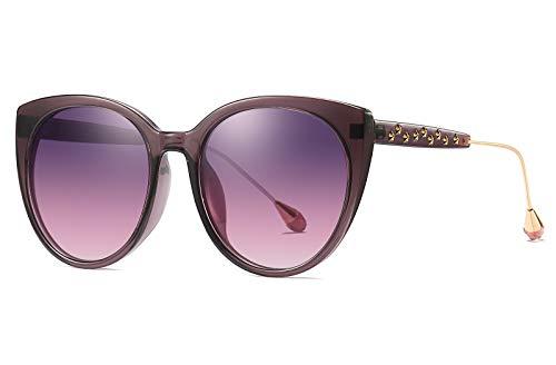 FEISEDY Cat Eye Polarized Vintage Sunglasses Women Stars Frame Design Oversized B2457]()