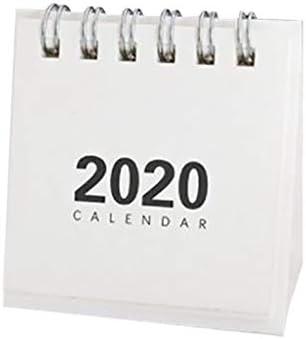 Täglicher Mini Tischkalender 2020 mit Monatsansicht, Steh Flip Kalender Täglicher Monats Tischplaner Agenda Organizer Tischquerkalender Bürokalender für das Büro zu Hause (Weiß)