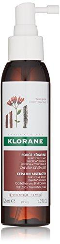 Klorane Keratin Strength Fortifying Spray for Thinning Hair, with Plant-Based Keratin, Quinine, Caffeine, B Vitamins, Men & Women, 4.2 oz.