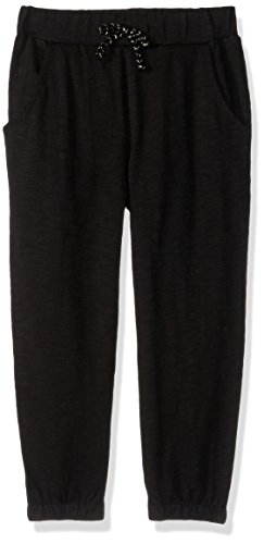 Gymboree Girls' Big Pull-On Knit Joggers, Black slub, - Gymboree Pants Girls Fleece