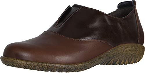 NAOT Footwear Women's Karo Toffee Lthr/Walnut Lthr Slip-on Shoe 8 M US ()