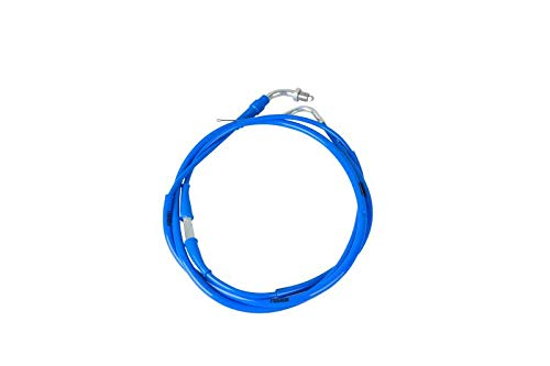 NIBBI High Performance Motorcycle Throttle Cable Adjustable GY6 Scooter Throttle Cable Flat Slide Carburetor Throttle Cable Red 185CM Fit Yamaha TaoTao Kymco SYM GY6 Scooter 125 150 Moped (blue) ()