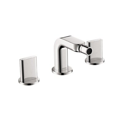 Metris S Double Handle Horizontal Spray Widespread Faucet Finish: Brushed Nickel