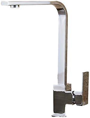 黒四角真鍮キッチン蛇口シングルレバーH/C 360回転ミキサータップ洗面器水クレーンタップ用キッチン浴室タップ