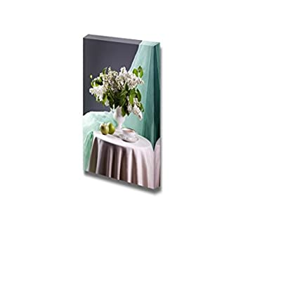 Canvas Prints Wall Art - Still Life with White Lilac in Vase - 18