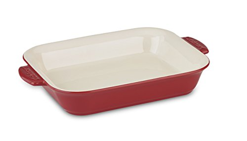 (Cuisinart CCB30-36R Chef's Classic Ceramic Bakeware-4 Quart Large Rectangular Baker, Red )