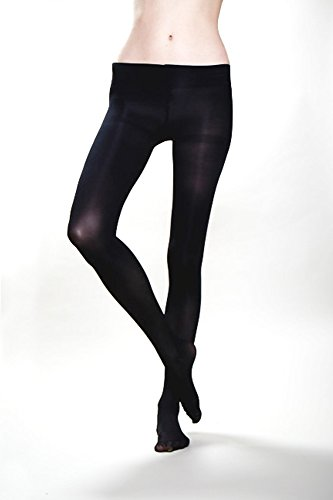 [Wade & Belle Not Too Tights - Black Opaque] (Bella Opaque Tights)
