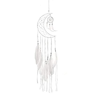 fannay Dream Catcher Moon Feather Home Décor Car Interior Hanging Pendant Ornament Dream Catchers