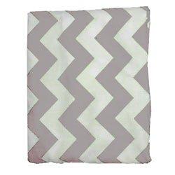 Babydoll Bedding Chevron Cradle Sheet, Grey, 18