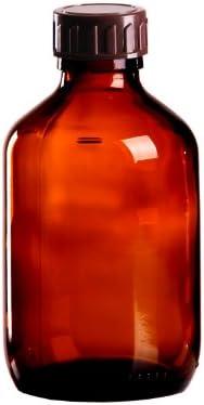 10 x Braunglasflasche 200ml / Medizinflasche inkl. Standard-Schraubverschluss braun DIN 28