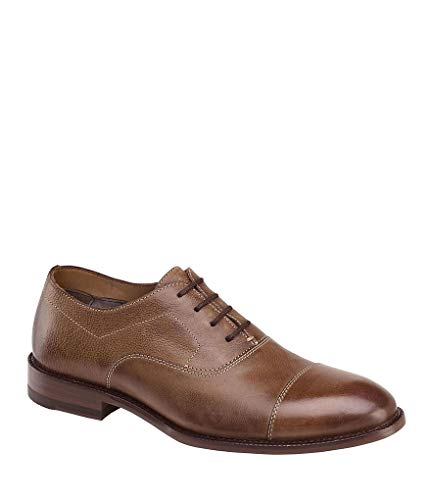 Johnston & Murphy Men's Jasper Cap Toe Dress Shoes Size US 9 M Brown Style # 27-1426 ()