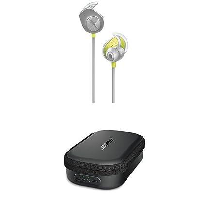 Bose SoundSport - Auriculares inalámbricos (Bluetooth, NFC, micrófono) color citron + Estuche