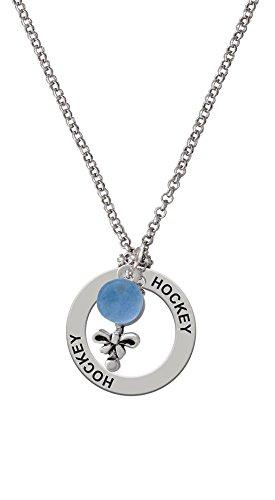 Blue Baby Rattle - Hockey Affirmation Necklace