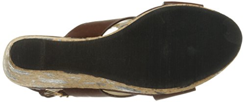 Annie Shoes Womens hypo Drive Espadrille Wedge Sandal Brown YJQAmr