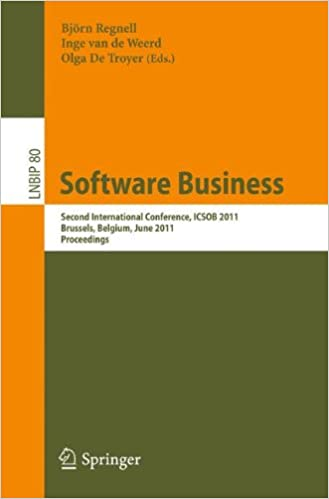 Book Software Business: Second International Conference, ICSOB 2011, Brussels, Belgium, June 8-10, 2011, Proceedings (Lecture Notes in Business Information Processing)