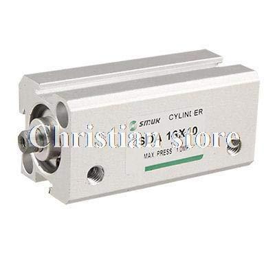 Fevas Aluminum Alloy Body 16mm Bore 30mm Stroke Air Cylinder ()
