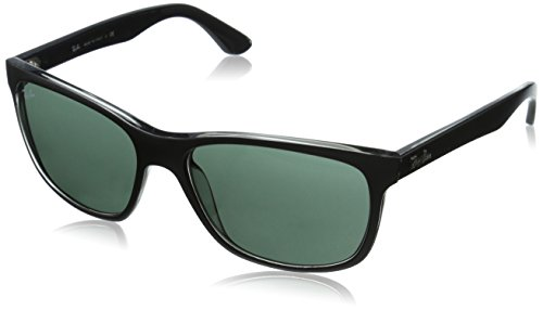 Ray-Ban RB4181 - TOP MATTE BLACK ON TRASP Frame GREEN Lenses 57mm - Polarized Rb4181