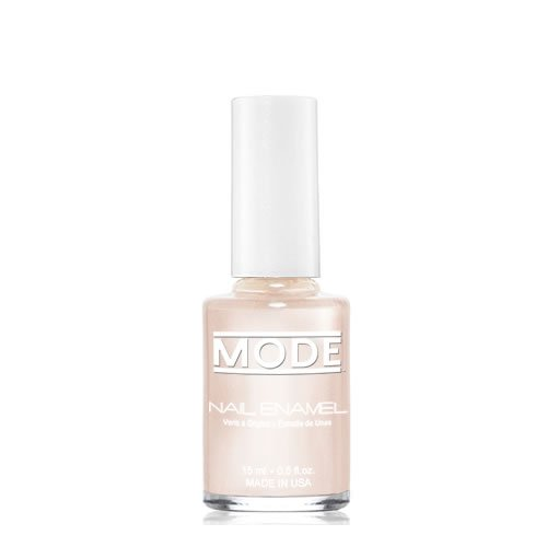 Mode Nail Enamel (Soft Sea Shell Pink Beige with Pearl - Shade #179) .50 FL oz. - Long Wear, High Gloss, Chip Resistant, Cruelty-Free, Vegan, Salon Nail Polish Formula/Made in Beautiful NY USA