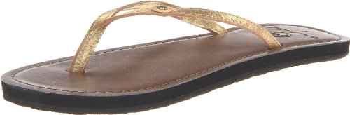 crocs Women's Om462 Oumi Nite Flp Flip Flop,Gold Metallic,5 M US
