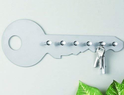 Zeller 13852 35 x 4 x 12 cm color blanco Colgador de llaves con forma de llave