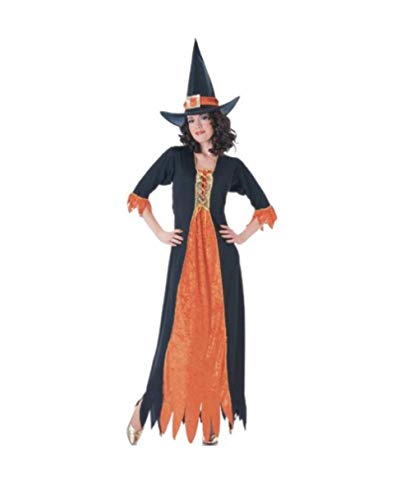 Rubie's Adult Gothic Witch Costume Black/Orange]()