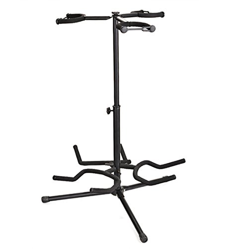 Triple Leg (Portable Multifunctional Heavy Duty Triple Guitar Stand with Folding Legs, Black)