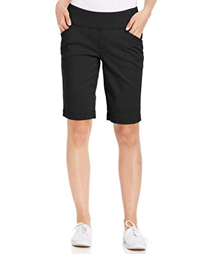 Jag Jeans Women's Petite Ainsley Pull on Bermuda Short, Black, 10P