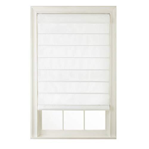 Window Blind Store Cordless Hanna Roman Shade White 35x64