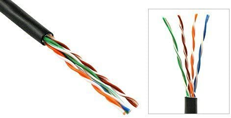 300FT 90M BULKRAW Cat5e Direct Burial Outdoor Outside Waterproof RJ45 Network RJ45 Solid Core Cable CMXT Pure Copper