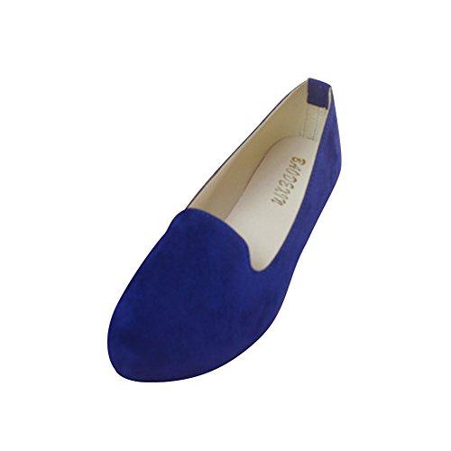 Basic Blue Ballerine Ecopelle Basse Moda Scarpe Saphir Elegante E In Donna Uawxdnq51U