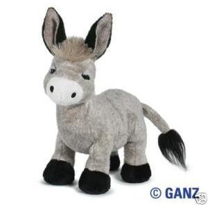 Webkinz Donkey + Webkinz Bookmark - New with Sealed Tag and Unused Code