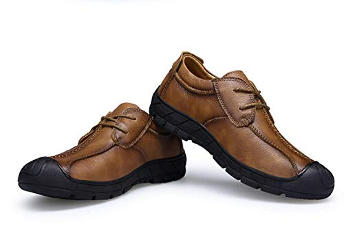 De Casuales Sueltos Capa Otoñal Primera Brown Herramientas Zapatos Para Con Hombre Cuero Shiney Cordones g7wxqYzFn