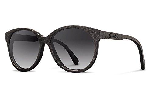 Shwood - Madison Wood, The Original Wood Sunglasses, Dark Walnut, Grey Fade Polarized ()