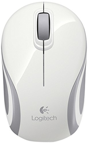 Logitech M187 Mini Mouse, White Wireless, 910-002735 (Wireless)