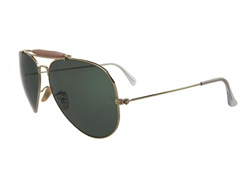 Ray Ban Outdoorsman II RB3029 L2112 Gold/Green Classic 62mm ()