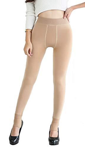 Yuson Girl Slim Warm Slimtess Leggings Epais Thermique Grande Taille Hiver Chaud Femme Strech Pantalon Elastique Velours…