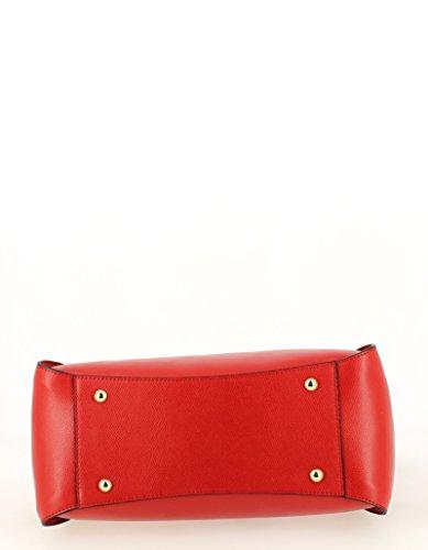 Ted Lapidus, Borsa a mano donna rosso rosso 34 (L) x 26 (H) x 11 (E) cm