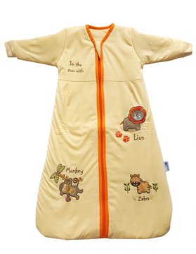 by Sleeping Bag Long Sleeves 3.5 Tog - Sunshine Zoo, 0-6 Months/Small ()