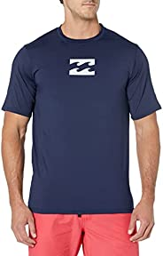 BILLABONG Mens Regular Fit Long Sleeve Rashguard Rash Guard Shirt