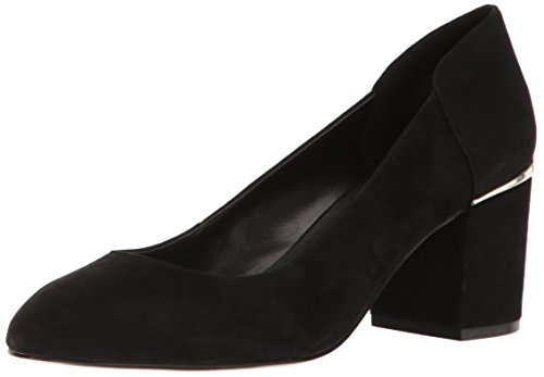 Nine West Women's Analia Suede Dress Pump, Black, 11 M US 25023545